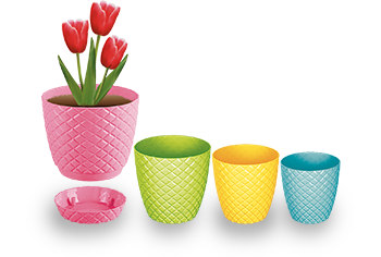 گلدان پلاستیکی طرح آناناسی