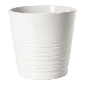 گلدان پلاستیکی سفید